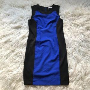 Calvin Klein Atlantis Blue Black Sheath Bodycon👗